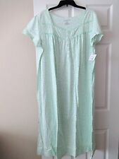 WOMENS CROFT AND BARROW NIGHTGOWN BALLERINA LENGTH PLUS SIZE 2X GREEN DITSY