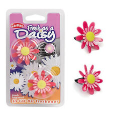 Carplan 3D Spinning Flower Car Vent Clip Air Freshener Fragrance Scent - PEACH