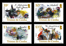 Tristan da Cunha 2016 William Shakespeare 4v set MNH