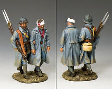 King And Country Ww1 francés-poilus caminando Herido fw178