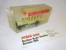"Daimler Berliner Kraft-Omnibus Bus Coach 1905 ""ABOAG"", Mini Car in 1:50 boxed!"