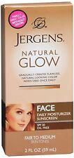 Jergens Natural Glow Facial Moisturizer SPF 20, Fair-Medium Skin 2 oz