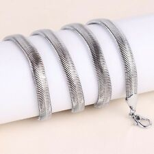 """New Men's 20"""" Cool 14K White Gold Filled Chain Link Snakelike Necklace Jewelry"""
