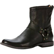FRYE Boots Phillip Harness Black Soft Leather 87870 Men's Size 11 MSRP $318