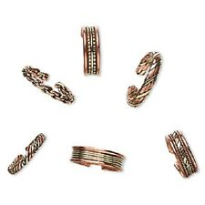 8451JW Ring Mix Band  Brass Antiqued Copper Fashion Jewelry Adjustable 6 Qty