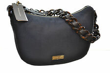 BORBONESE 934986 LUNA BAG SMALL  COLORE BLU NOTE TESS. JET O.P. /P