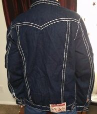 True Religion Men's Jacket Size XL Dark Wash (Joey Super T) Great Used Shape!