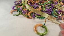 "3""- 1 meter Beautiful colourful rings fringe lace trimming for crafting decor"