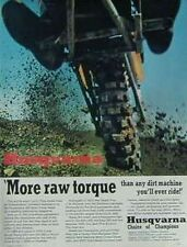 1971 HUSQVARNA 400 MOTOCROSS MORE RAW TORQUE Motorcycle Ad