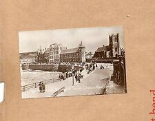 Aberyswyth New promenade college & parish church Real photo sepia unposted art