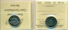 2006P Canada 5 Cent Certified ICCS MS-65