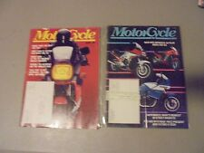 lot of 2 1984 MOTORCYCLE MAGAZINE, FIRST 2 ISSUES EVER,TOURING,NEW BIKES,CRUISER