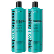 Healthy Sexy Hair Sulfate Free Soy Moisturizing Shampoo & Conditioner LITER DUO