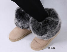 Womens winter Warm faux fox fur lower leg warmers fluffy boot shoes cover good
