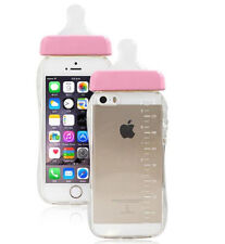 New Baby Pink Nipple Milk Bottle TPU Case Cover For iPhone 6 6S With Rope