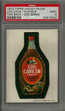 1973 Topps Wacky Packages Log Cave-In Syrup 2nd Series Tan Back PSA 9 MINT Card