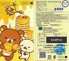 Okamoto (Japan) Rilakkuma Meets Honey Love Love Hot Latex Condom 10-Count