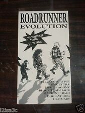 Roadrunner Evolution 7 Videos VHS Type 0 negative Sepultura, Machine Head + More