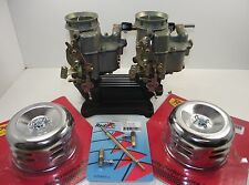 Holley 94 Edelbrock 94 carby twin set up for chev ford v8 hot rod carburettor