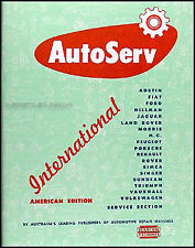 AutoServ Manual Fiat 600 1100 Morris Minor Major Oxford Austin A35 A40 A90 A95