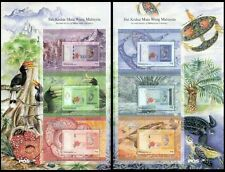 Second Series Of Malaysian Currency Malaysia 2012 Bird Kite Turtle (sheetlet MNH