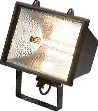 1000W Black Halogen Floodlight-Garden Security Light Enclosed IP54 + FREE BULB