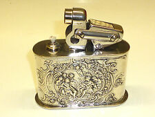 KW (KARL WIEDEN) SEMI-AUTOMATIC TABLE LIGHTER W. 800 SILVER CASE & RELIEF - 1930