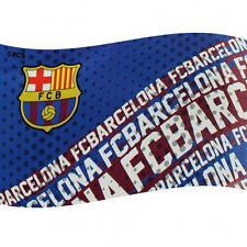 Barcelona Licensed  Football Flag 5x3Ft Flag Pole Windsocks Use.