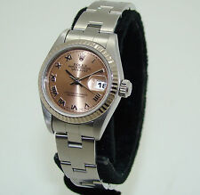 "ROLEX STAINLESS STEEL WOMENS AUTOMATIC SALMON DIAL DATEJUST 79174 WATCH ""F"" '03"