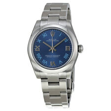 Rolex No Date Blue Dial Stainless Steel Automatic Ladies Watch 177200BLRO