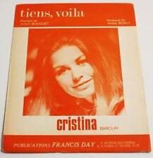 Partition vintage sheet music CRISTINA : Tiens, Voilà * 60's