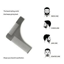 Hot Stainless Steel Beard Styling & Shaping Template Comb Trim Tool for Men US