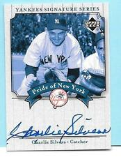 2003 Upper Deck Yankee Signature Pride of NY Autograph Charles Silvers