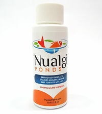 Nualgi Ponds-Natural Algae Control-60 ml-water garden-fish safe-concentrated