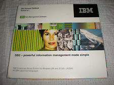 IBM DB2 Universal Database Version 8.1 Management Software Windows PLEASE READ