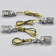 4x 6 LED Amber Mini Motorcycle Turn Signal Blinker Indicator Light Universal 12V
