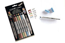 Copic Ciao Pennarello - 6 Set di penne-Rottami & stempelset 2-Twin Tipped