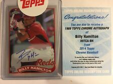 2014 Topps Chrome  Billy Hamilton '89 Refractor on Card Auto #4/25 Reds