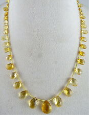 BEST BARGAIN 81.60CTS NATURAL CITRINE BRIOLETTE BEADS DROPS NECKLACE