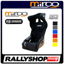 FIA APPROVED Mirco RS2 Racing Seat BLUE RED YELLOW ORANGE GREY Head Restraint