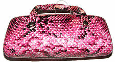 PINK SNAKE SKIN STYLE HARD GLASSES / SPECTACLE PROTECTIVE CASE - NEW
