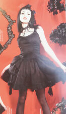 LIP SERVICE JARDIN NOIR LOLITA BLACK WHITE DRESS TORRID #83-196 NWOT 2