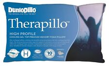 Dunlopillo Therapillo Cooling Gel Top High Profile Memory Foam Pillow RRP$189.95