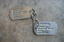Korean War Korea USMC US Marine Corps dog tags id pair