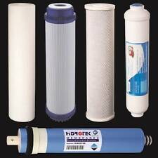 5 pc Reverse Osmosis Replacement Filter Set  RO Cartridges w/ 50 GPD Membrane