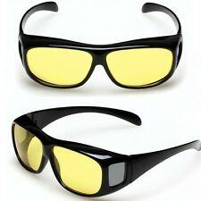 gift HD Sunglasses Night Vision Driving Glasses Yellow Lens Fit Over RX Glasses