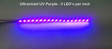 "6"" UV Purple Ultraviolet LED Strip 18 SMD LED NON Waterproof Flexible Light"