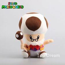 Super Mario Bros. TOAD Old Grandpa TOADETTE Plush Toy Soft Stuffed Doll 9'' New