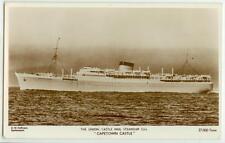 c1940s Capetown Castle Real Photo - Union Castle Mail Steamship