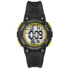 Timex Unisex Marathon Indiglo Digital Alarm Black Rubber Sports Watch TW5K84900